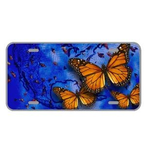 Custom license plate with beautiful butterflies
